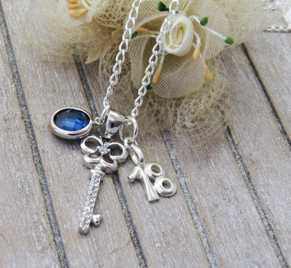 18th Birthday Necklace With Key 18 Birthday Gift 18 Gift
