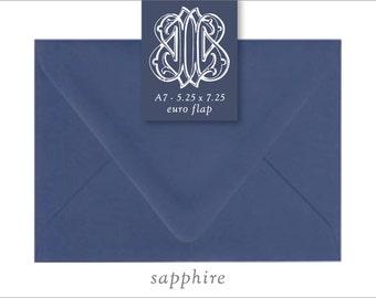 Sapphire | 10 Blank Euro Envelopes | A7 • A2 • RSVP