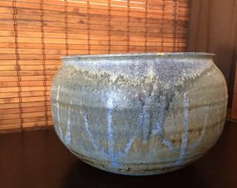 Huge Mid Century Modern Vintage Studio Pottery Bowl