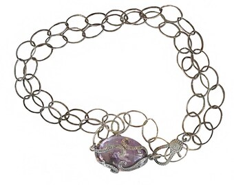 Amethyst and Diamonds Necklace