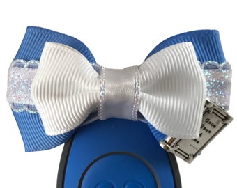 """Provincial Belle Magic Band Bow, Apple Watch Bow, 2"""" Mini Hair Bow, Planner Clip Bow - Beauty and the Beast Collection"""
