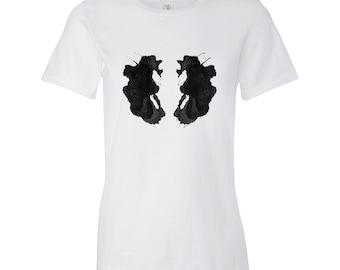 Psychologie T Shirt Rorschach l'encre des femmes tache Test Style Art 26