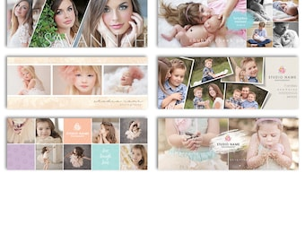 Photography Facebook Cover Templates - 6Pak Bundle - 1095