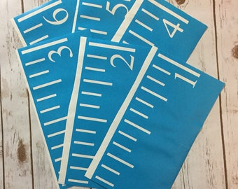 Growth Chart Ruler Stencil File - Sideways Number - SVG Cut File - Instant Download - perfect for vinyl and stencils