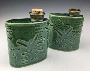 A-10 Flasks, Jade Green