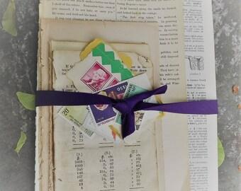 Mixed Media Supply Vintage Paper Bundle
