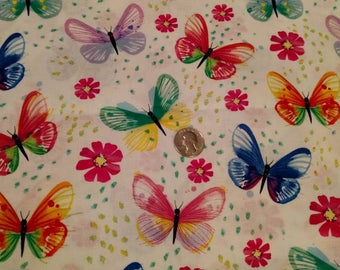 Watercolor Butterflies Fabric