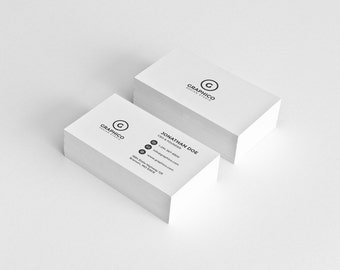 Simple Corporate Business Card Design Template - Photoshop Templates - Simple, Coprorate, Minimalist - Instant Download - v15