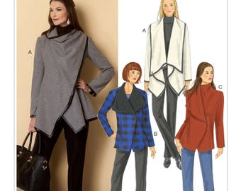 Sewing Pattern for Misses' Oversized Collar Coats, Butterick Pattern 6255,  Women's Coats and Wraps,  Plus Sizes Available