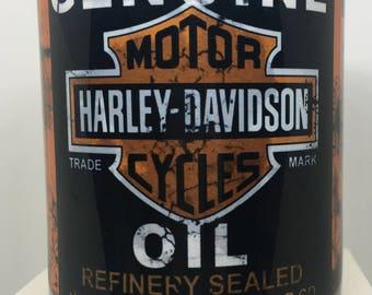 Harley Davidson Motor Oil Mug, Oil Can, Vintage motor oil, Mechanic, Motorcycle, Motorbike