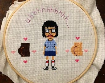 Tina Belcher Butts Embroidery 7""