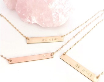 NamePlate Necklace, Custom Necklace, Engraved Necklace, Name Necklace Gold, Be Kind Necklace, Nameplate Necklace, Necklaces with Name