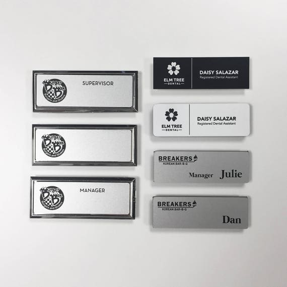 custom engraved name tag magnetic Name tags for work staff