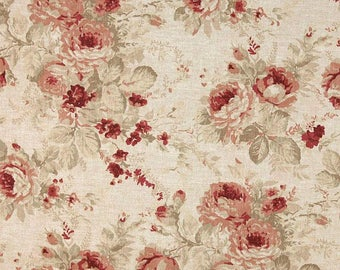 Shablis Rose, Magnolia Home Fashions - Cotton Upholstery Fabric By The Yard