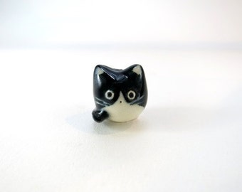 Tuxedo Cat Necklace Cat Jewelry Black White Cat Charm Necklace Tuxedo Cat Lover Gift Pet Jewelry Fat Cat Pendant Cat Lady Animal Necklace