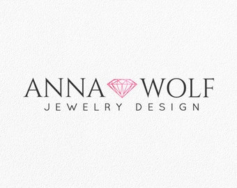 Jewelry Logo Diamond Logo Photography Logo Gemstone Logo Bohemian Shop Blog Logo Watermark Logo Boutique Brand Logo Custom Logo Design #PL26