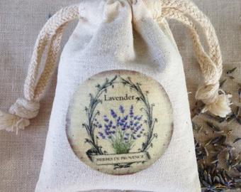 LAVENDER SACHET, PARISIAN Provence Lavender Sachet, Aromatherapy Lavender Drawer Sachet, Sleeping Calm Aromatic Lavender Sachet