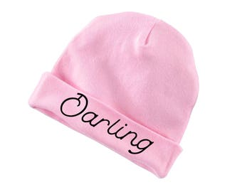 Darling Funny Cotton Beanie For Infants