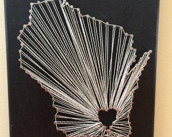 Wisconsin string art