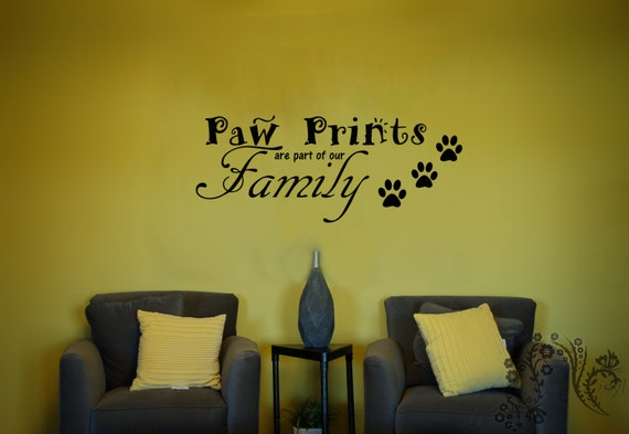 & Paw Prints are part of our Family Wall Decals Wall Decal