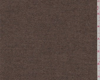 Brown Maple Wool Jacketing, Fabric By The Yard