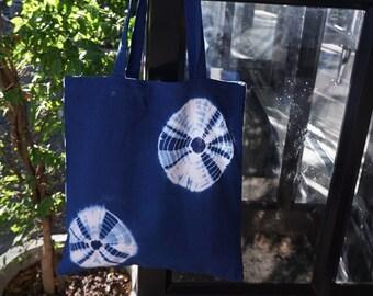 Tie Dye Indigo Hobo Shoulder Sling Bohemian Style Bag Shibori Bag, Linen Bag,Indigo Blue Shopping Bag, Summer bags, Blue accessories