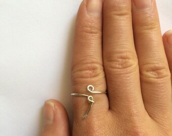 Semicolon ring sterling silver or 14k gold filled