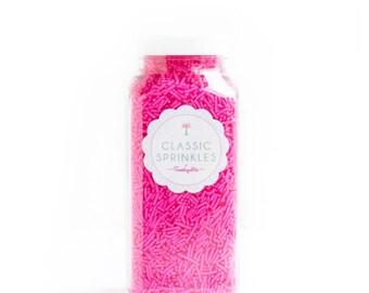 Sweetapolita Bright Pink Crunchy Sprinkles 8oz. | Pink Sprinkles | Hot Pink Sprinkles | Neon Pink Sprinkles | Pink Sprinkle Mix
