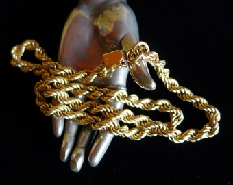 Vintage 14k Gold Rope Chain 20""