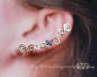 How to Make Ear Climbers, Ear Pins, Ear Sweeps, Beginner Wire Jewelry Tutorial, Earrings for Pierced Ears, Step by Step Digital Instructions