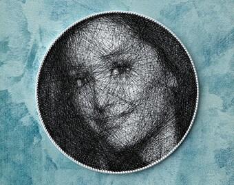 Custom portrait from photo, portrait of Ariana Grande, personalized gift, unique wall decor, home decor, unique gift, custom portrait