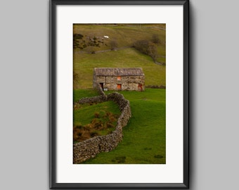 Red Barn Door, Swaledale, Yorkshire, fine art landscape photo