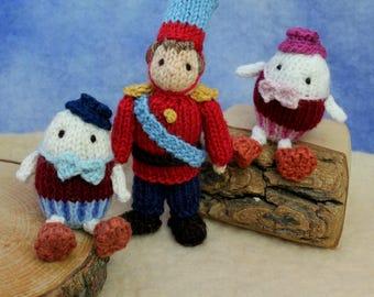 Humpty Dumpty and the Horseman knitting pattern PDF