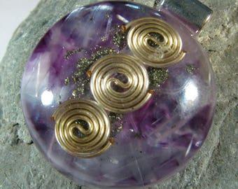 Selenite and Pyrite Orgone Pendant