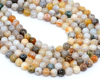 "6MM Bamboo Agate Natural Gemstone Round Shape Full Strand Loose Beads 15.5"" (100159-261)"