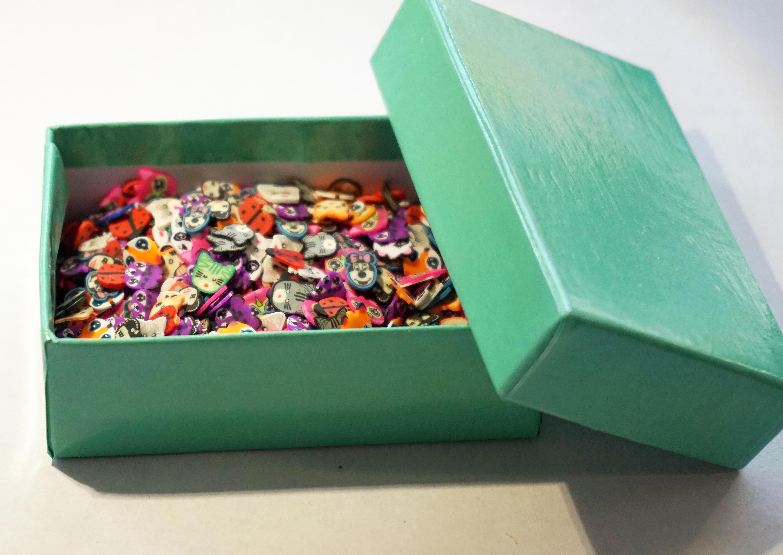 1000 piezas 3D animales Fimo rebanada polímero arcilla uñas Decor ...