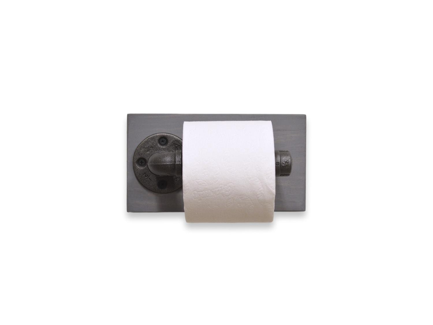 Cast Iron Pipe Toilet Paper Holder
