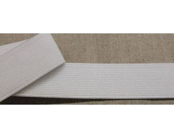 elastic Ribbon closed - 2, 5 cm - white