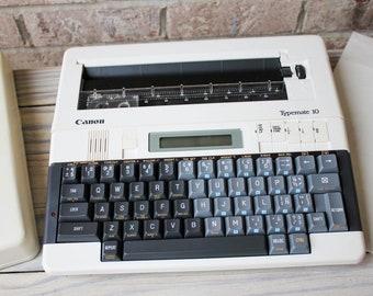 Canon Typemate 10 Working Typewriter Vintage Portable Electric Typewriter w/ Original Box and AC adapter