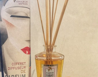 DIFFUSER FRAGRANCE Rose Grasse 100% handmade, luxury home fragrance - box scent with sticks made in france incense gift