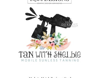 Spray Tan Logo, Premade Logo, Watercolor Logo, Spray Tan Logo, Mobile Tanning Logo Designs, Sunless Tan Logo, Custom Logo Design, Boutique