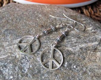 Sterling silver Peace earrings- Lisa New Design-  Boho jewelry