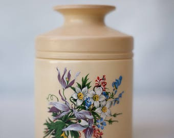 Vintage opaline jar - jar opaline, floral pattern, vintage jars, jar french opaline, flowers, home decor, decorative kitchen