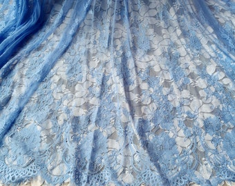 1.5x3 meters wide blue eyelash tulle mesh gauze fabric tapes lace trim ribbon 1o3 free ship