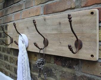 Reclaimed Wooden Acorn Hat And Coat Hook