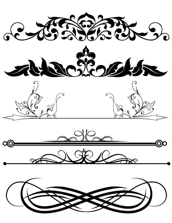 design clipart mix frames scroll divider digital download clip rh etsystudio com designer clipart free design clipart png