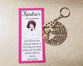 10 keychain Favors - first communion favors