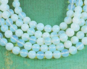 "Opalite  12mm Round Gemstone Beads - Full 16"" Strand - About 35 Beads"