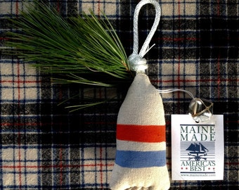 Maine lobster buoy christmas ornament. Nautical tree ornament. Buoy christmas decoration. Buoy tree ornament. One ornament-any color!