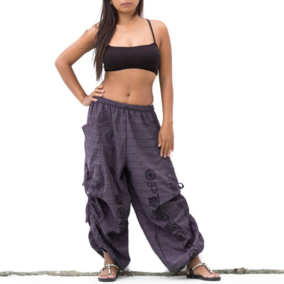 Boho Pants men women , Harem pants, Buddhist om pants, Ethno Pants, Spiritual pants, Ethno pants